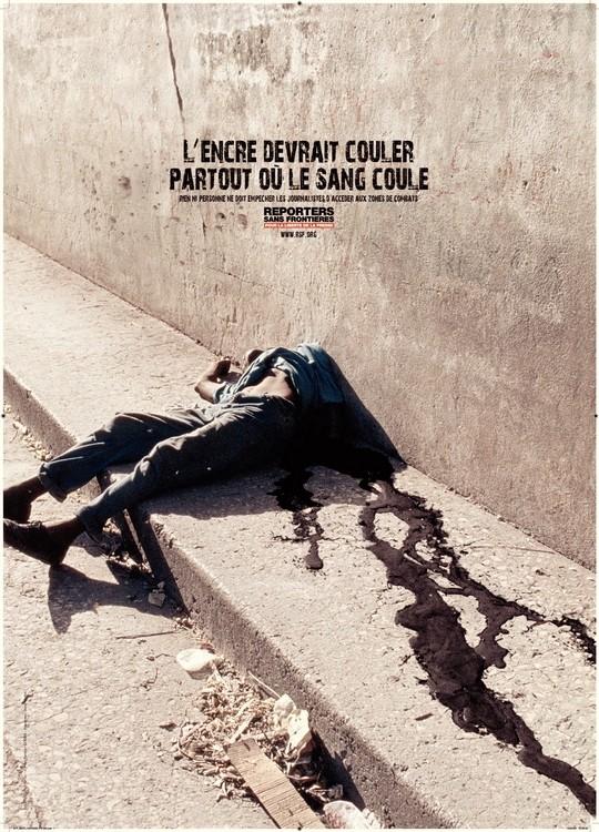 12 Affiches De Reporters Sans Frontieres Photos Choquantes